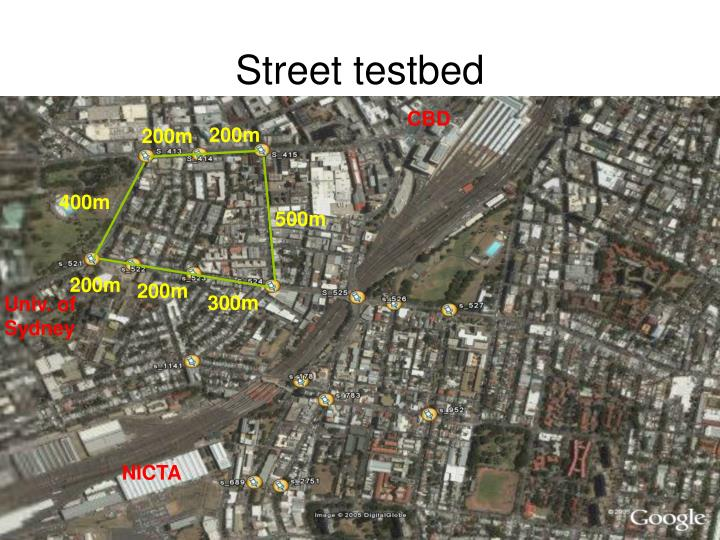 Street testbed