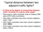typical distance between two adjacent traffic lights
