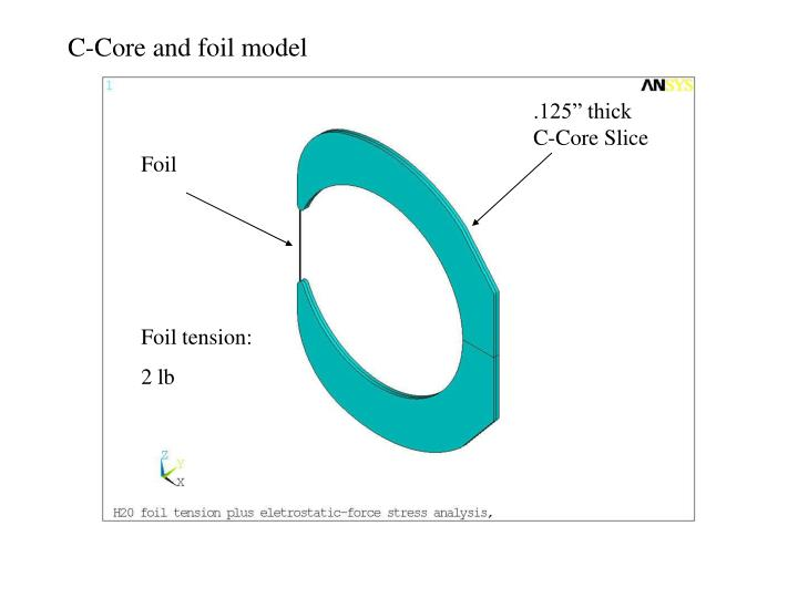 C-Core and foil model