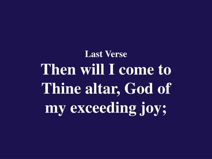 Last Verse