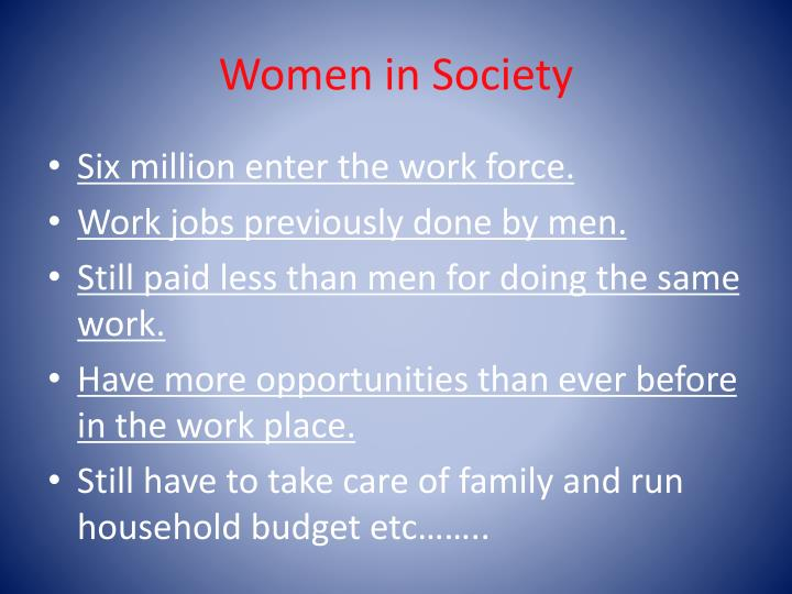Women in Society