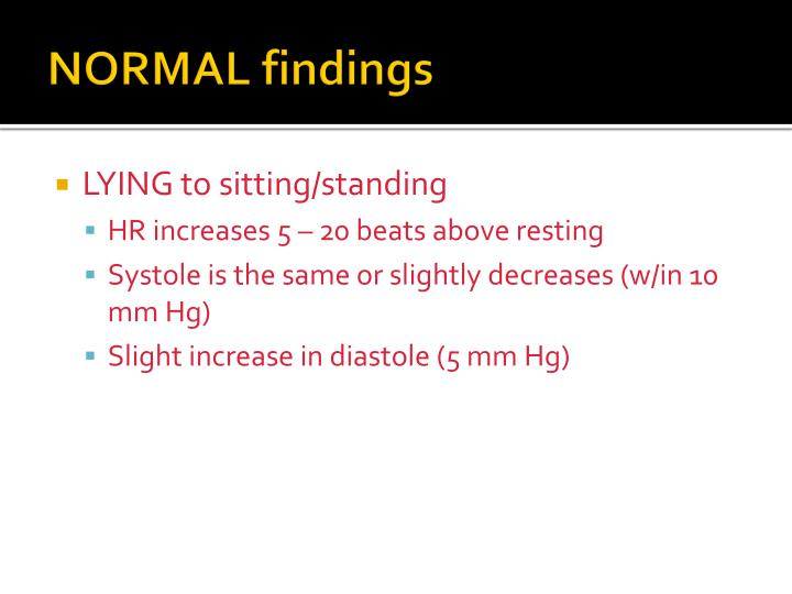 NORMAL findings