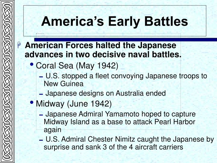 America's Early Battles