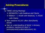 joining proecedures