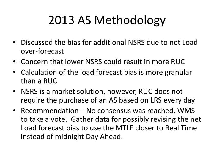 2013 AS Methodology