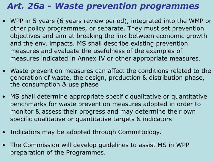 Art. 26a - Waste prevention programmes