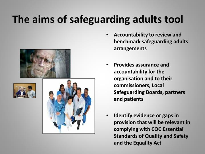 The aims of safeguarding adults tool