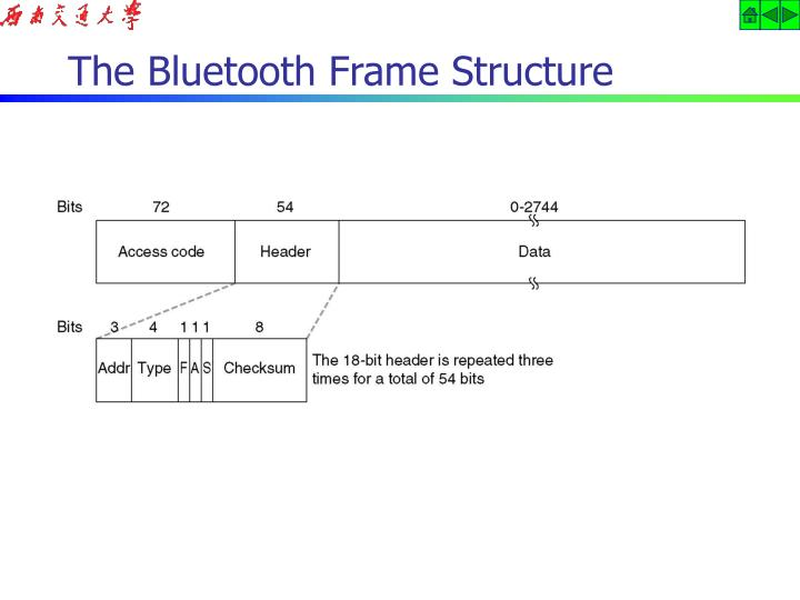 The Bluetooth Frame Structure