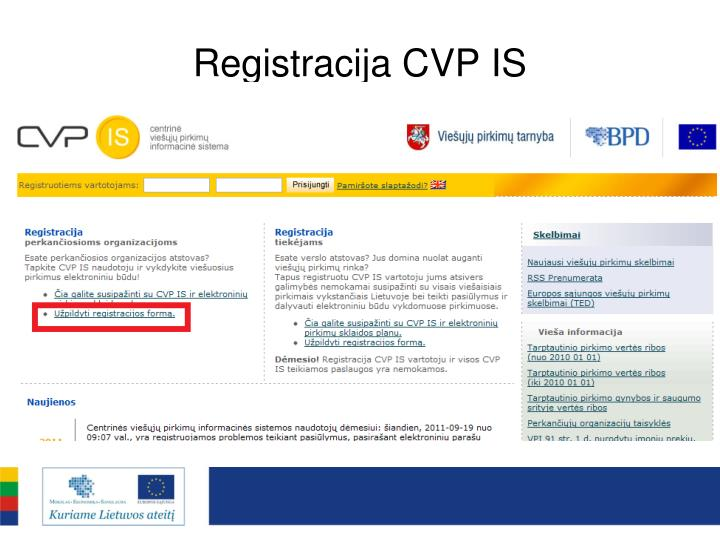 Registracija CVP IS