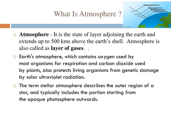 What Is Atmosphere ?