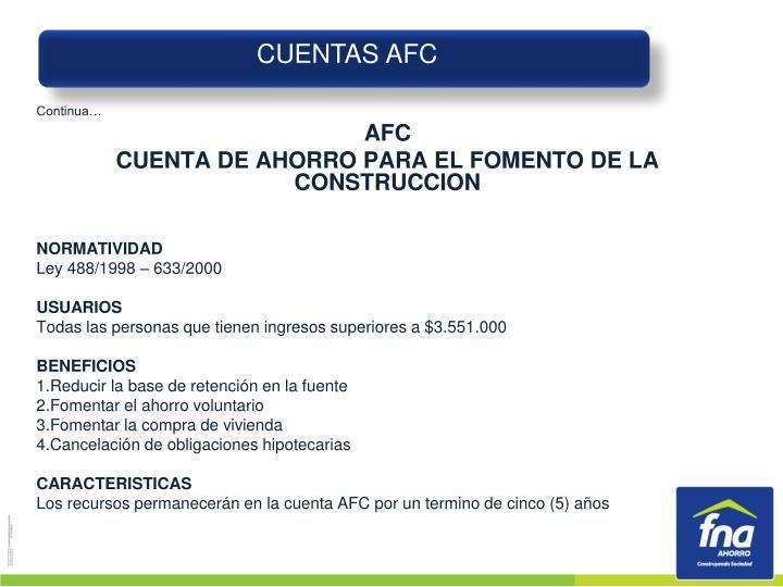 CUENTAS AFC