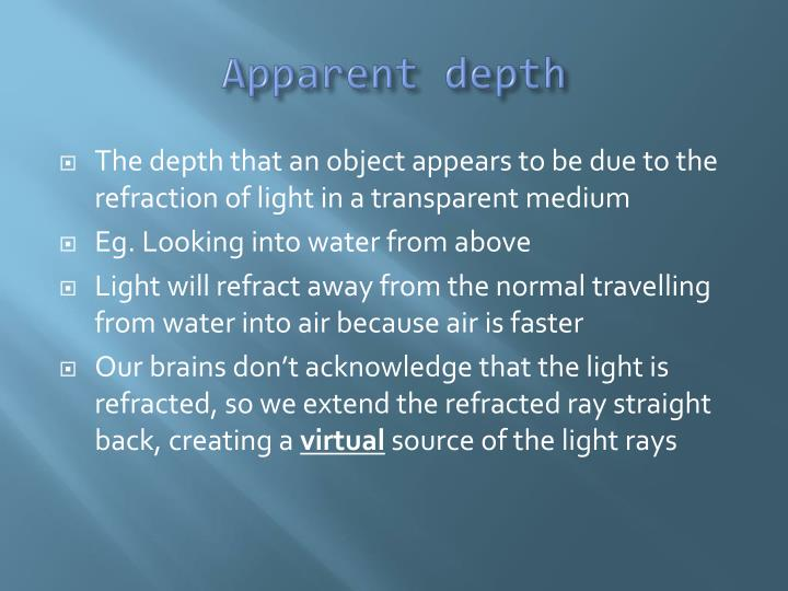 Apparent depth