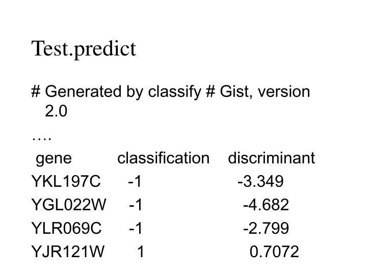Test.predict