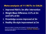 meta analysis of 11 rcts in cald