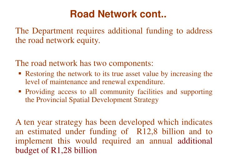 Road Network cont..