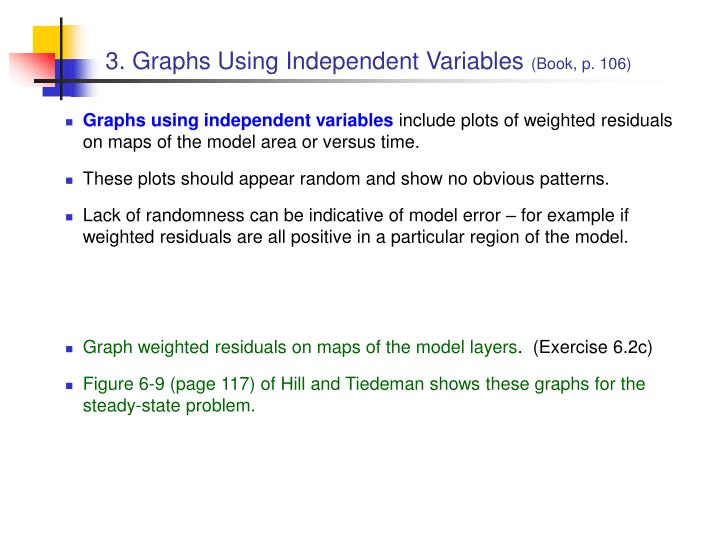 3. Graphs Using Independent Variables