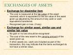 exchanges of assets