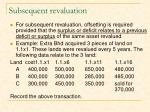 subsequent revaluation