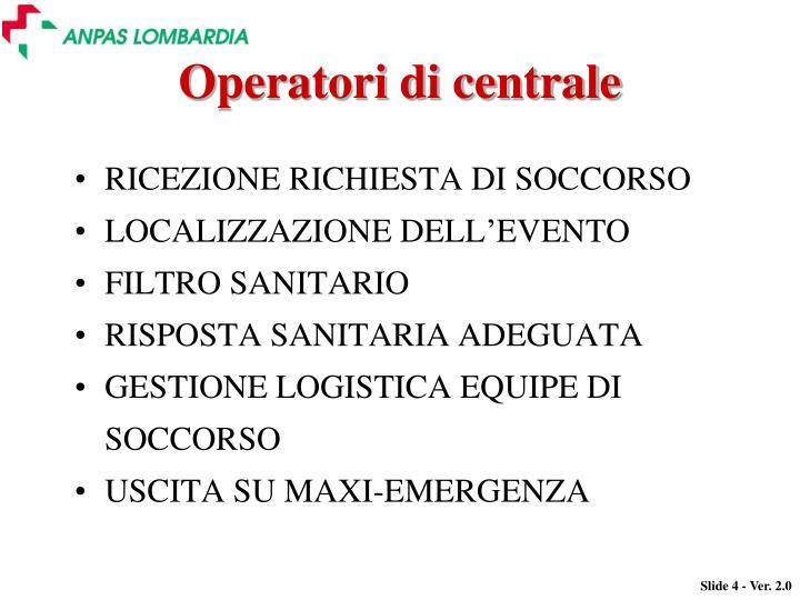 Operatori di centrale