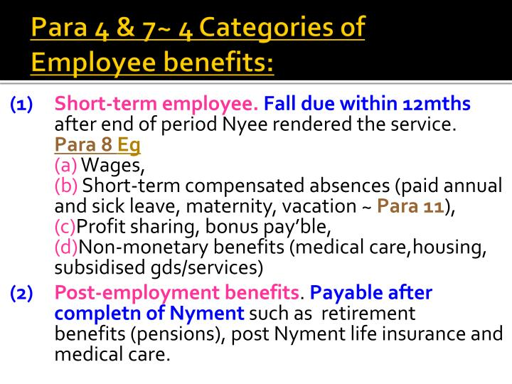 Para 4 & 7~ 4 Categories