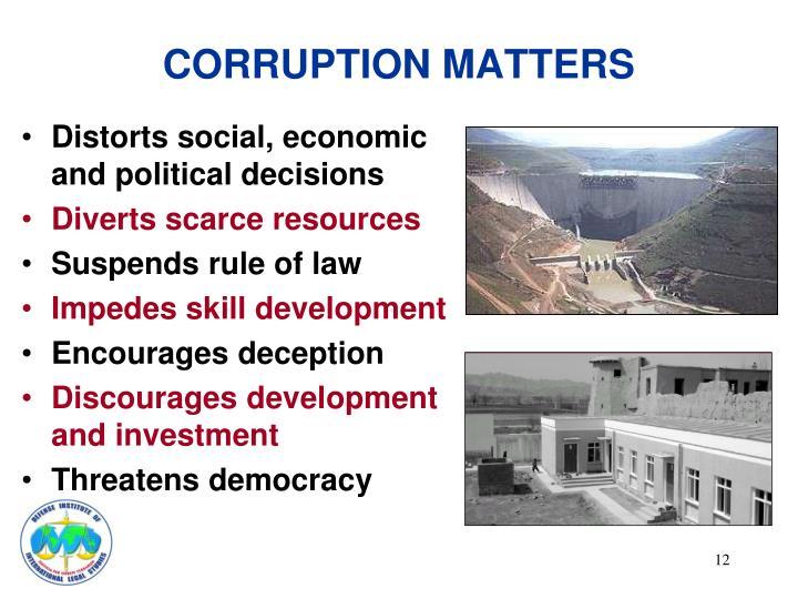 CORRUPTION MATTERS