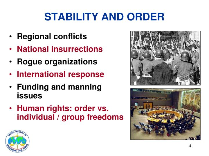 STABILITY AND ORDER