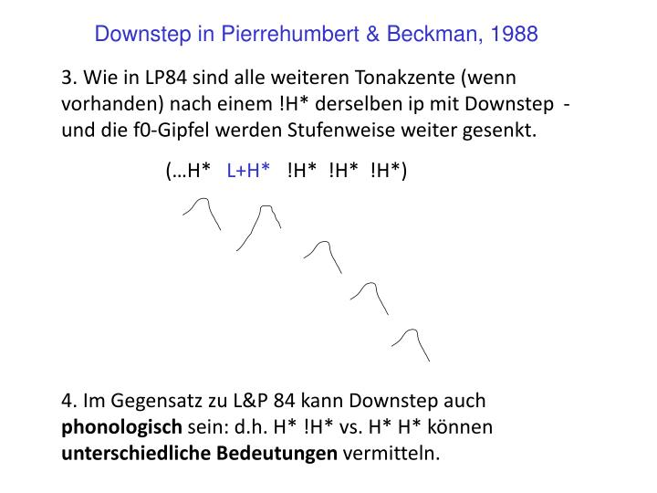 Downstep in Pierrehumbert & Beckman, 1988