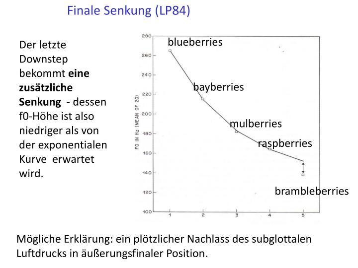 Finale Senkung (LP84)