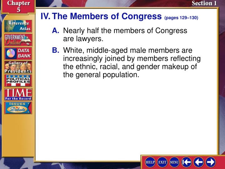 IV.The Members of Congress