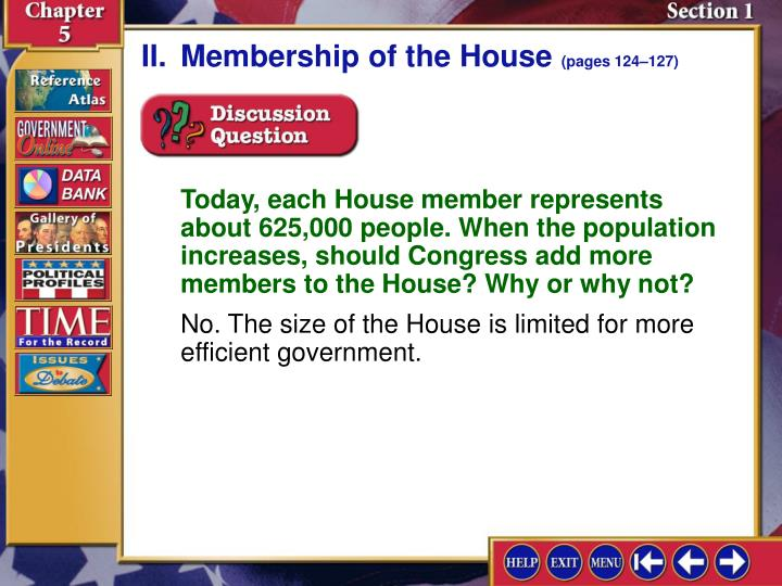 II.Membership of the House