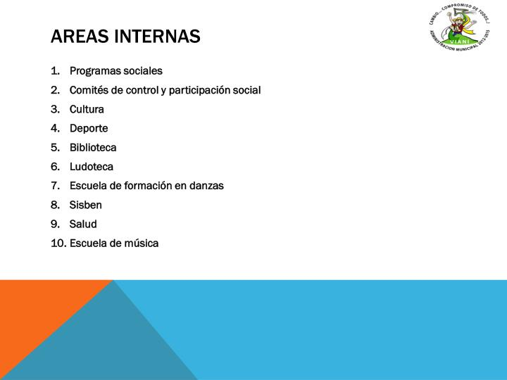 AREAS INTERNAS
