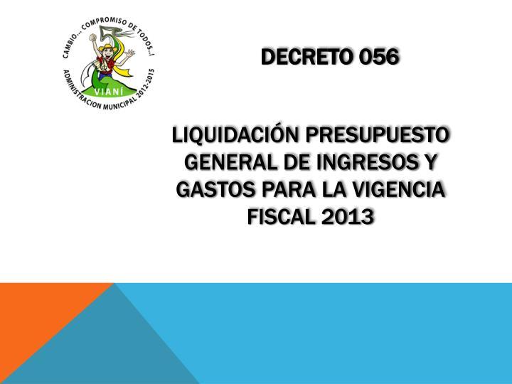 Decreto 056