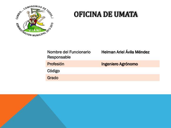 OFICINA DE UMATA