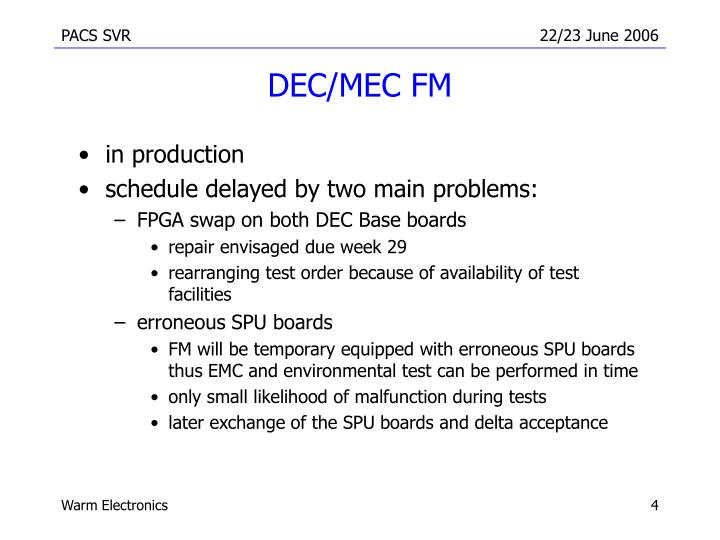 DEC/MEC FM