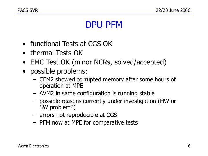 DPU PFM