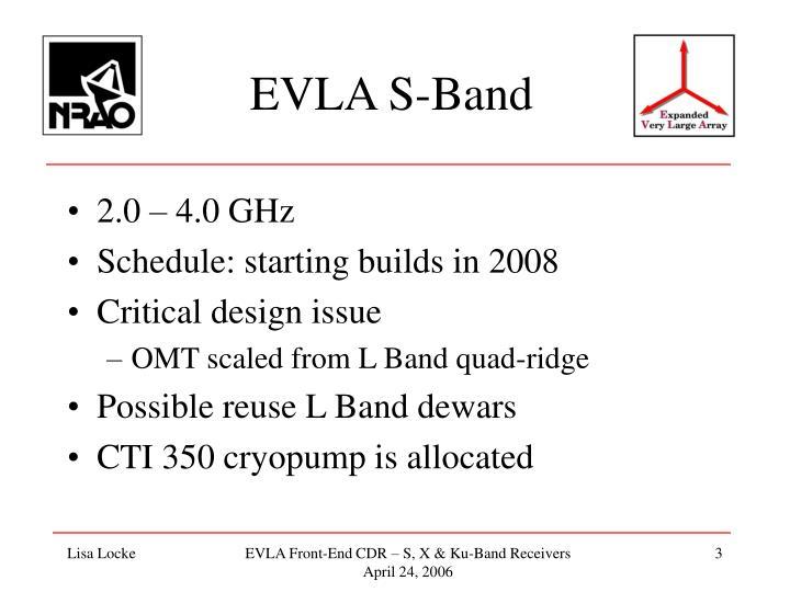 EVLA S-Band