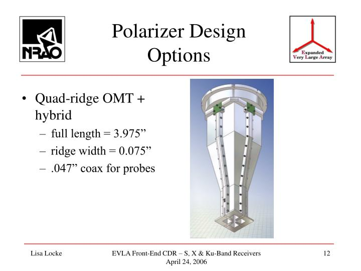 Polarizer Design Options