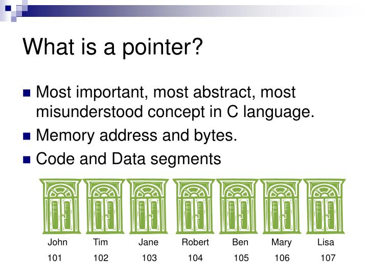 What is a pointer?