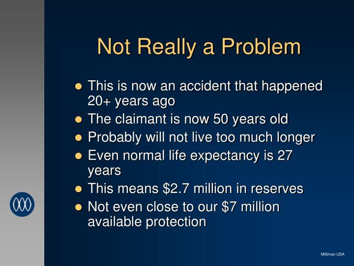 Not Really a Problem
