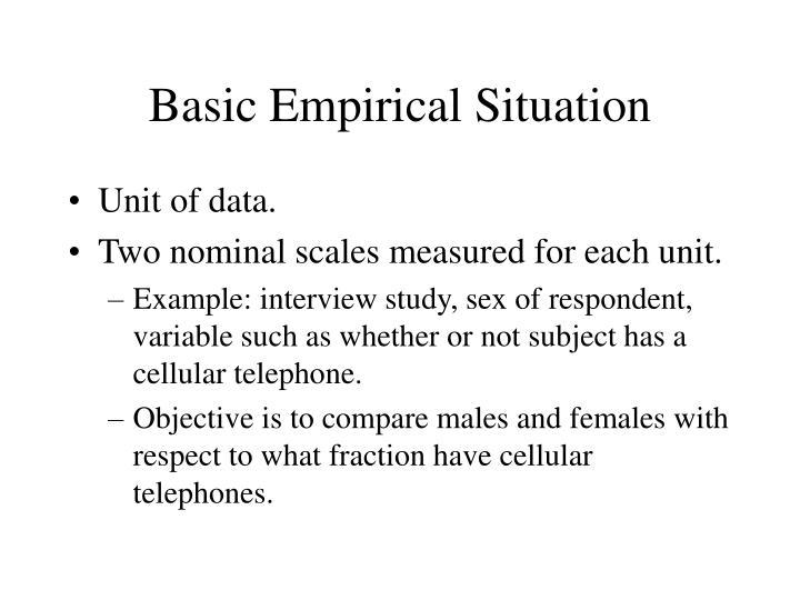 Basic Empirical Situation