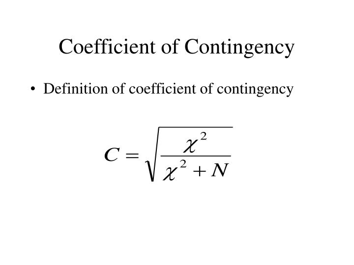 Coefficient of Contingency