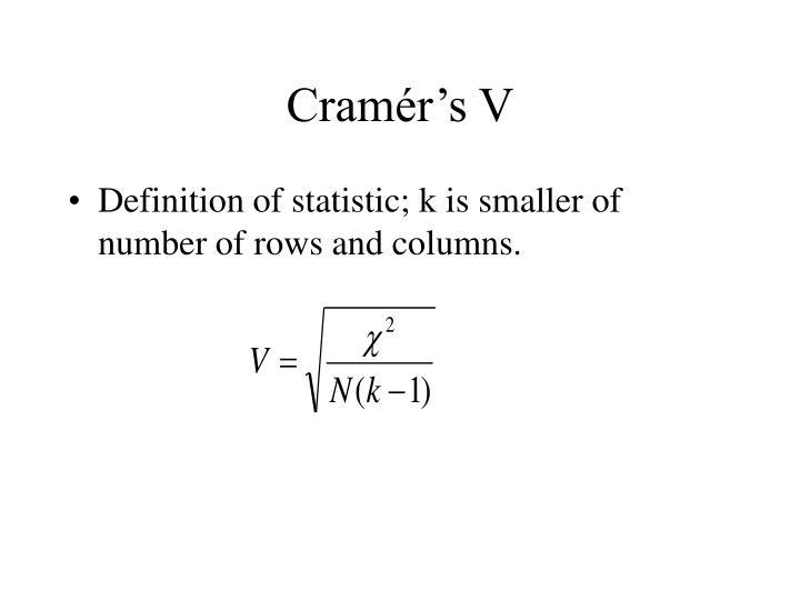 Cramér's V