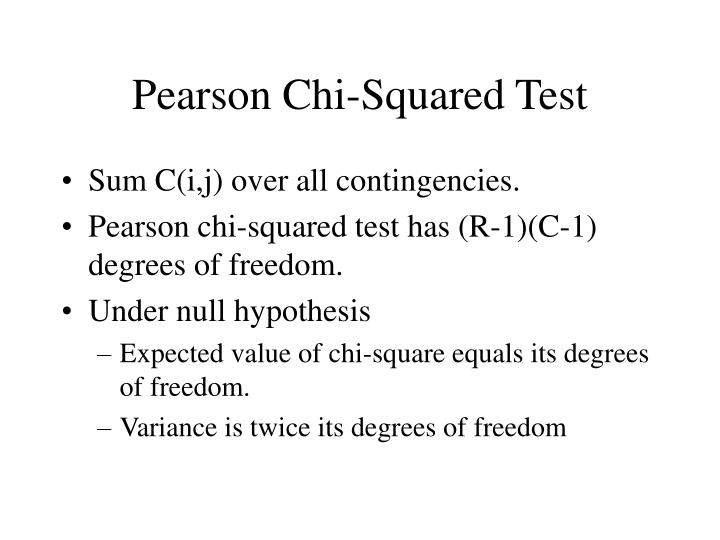 Pearson Chi-Squared Test