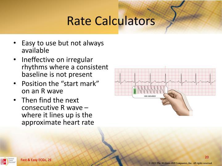 Rate Calculators