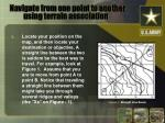 navigate from one point to another using terrain association1