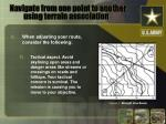 navigate from one point to another using terrain association2