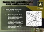 navigate from one point to another using terrain association4