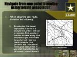 navigate from one point to another using terrain association5