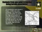 navigate from one point to another using terrain association6