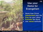 use your home for evangelism